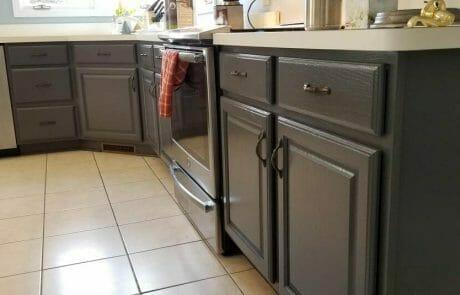 Dark Painted Kitchen Cabinets