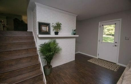 Painted residential entry way