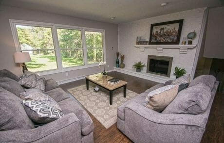 Painted Residential interior Living Room