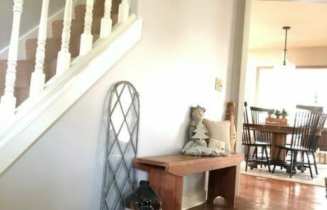 Painted interior stairway grey