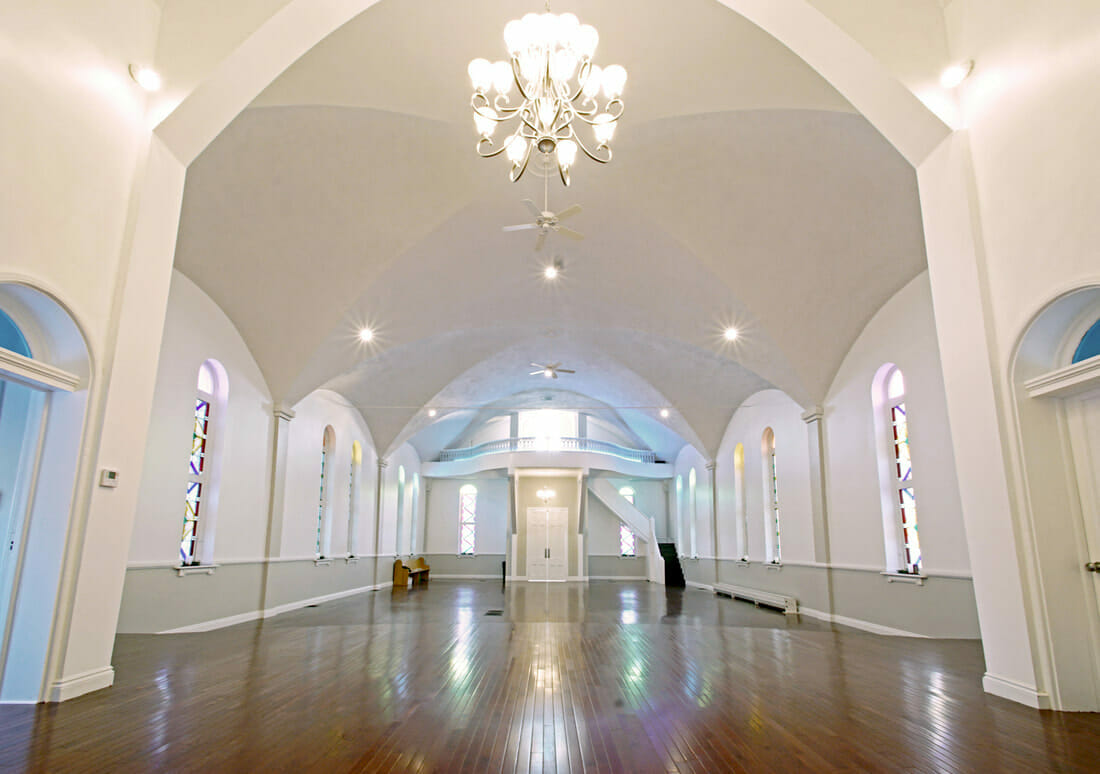 A large church interior painted by Kane | Interior Painting Services
