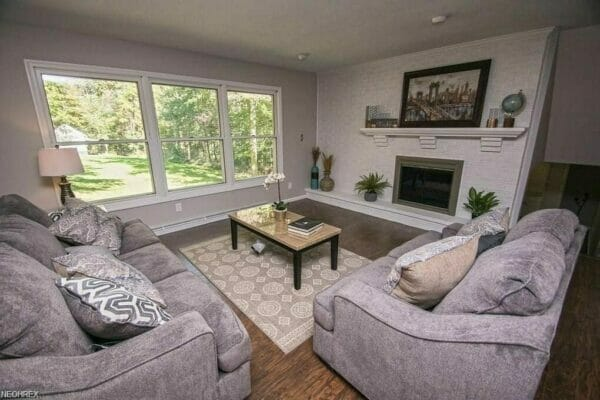 A living room interior painting project by Kane | Interior House Painters Near Me
